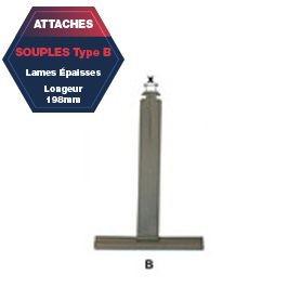 Attache B de tablier aluminium plastifié Lg 198 mm lame épaisse