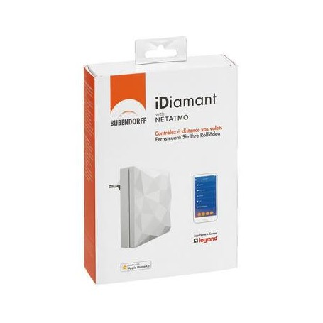 Interface domotique Bubendorff iDiamant with Netatmo