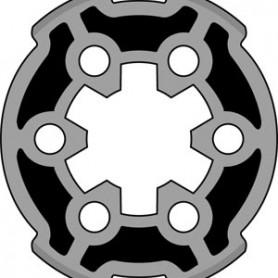 Adaptation 40 R + C moteurs SOMFY LS40 et SIMU tube SOLISO Ø44,5