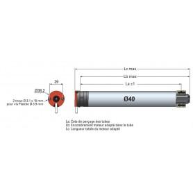 Moteur filaire SIMU T3,5 - Ø 40 mm - 6Nm