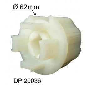 Embout d'axe traversant - Pour tube Ø 62 mm et octo de 60 mm