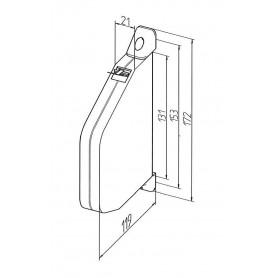 Enrouleur de cordon orientable sans cordon
