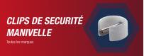 Goupilles et Clips de sécurité Manivelle