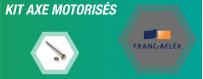 Nos axes de motorisation en kit FRANCIAFLEX pour volet roulant