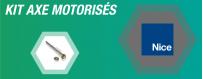 Nos axes de motorisation en kit NICE pour volet roulant