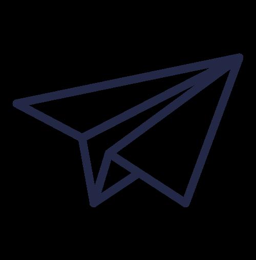 icone d'avion en papier